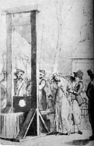 Olympe de Gouges leidd undir fallöxina